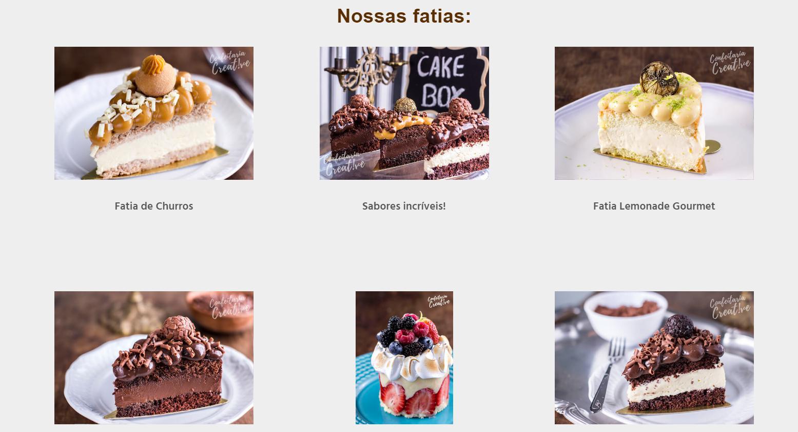 Cakebox Fatias Geladas