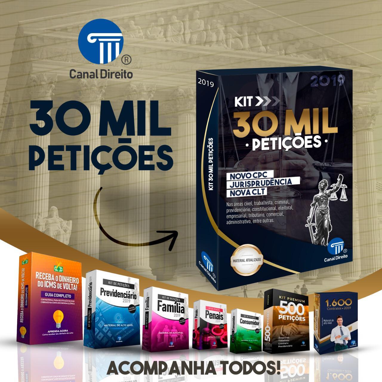30 MIL PETIÇÕES - CANAL DIREITO - VERSÃO PREMIUM 1.0